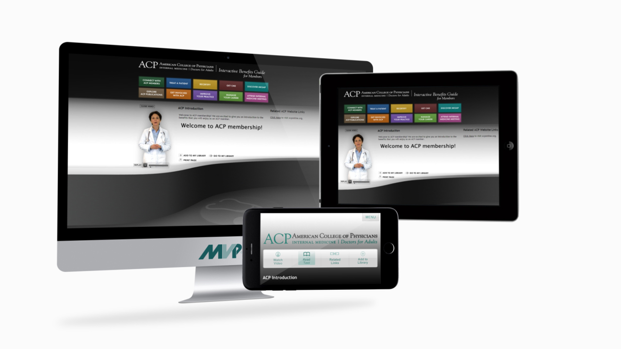 ACP Mobile-Optimized Interactive Benefits Guide