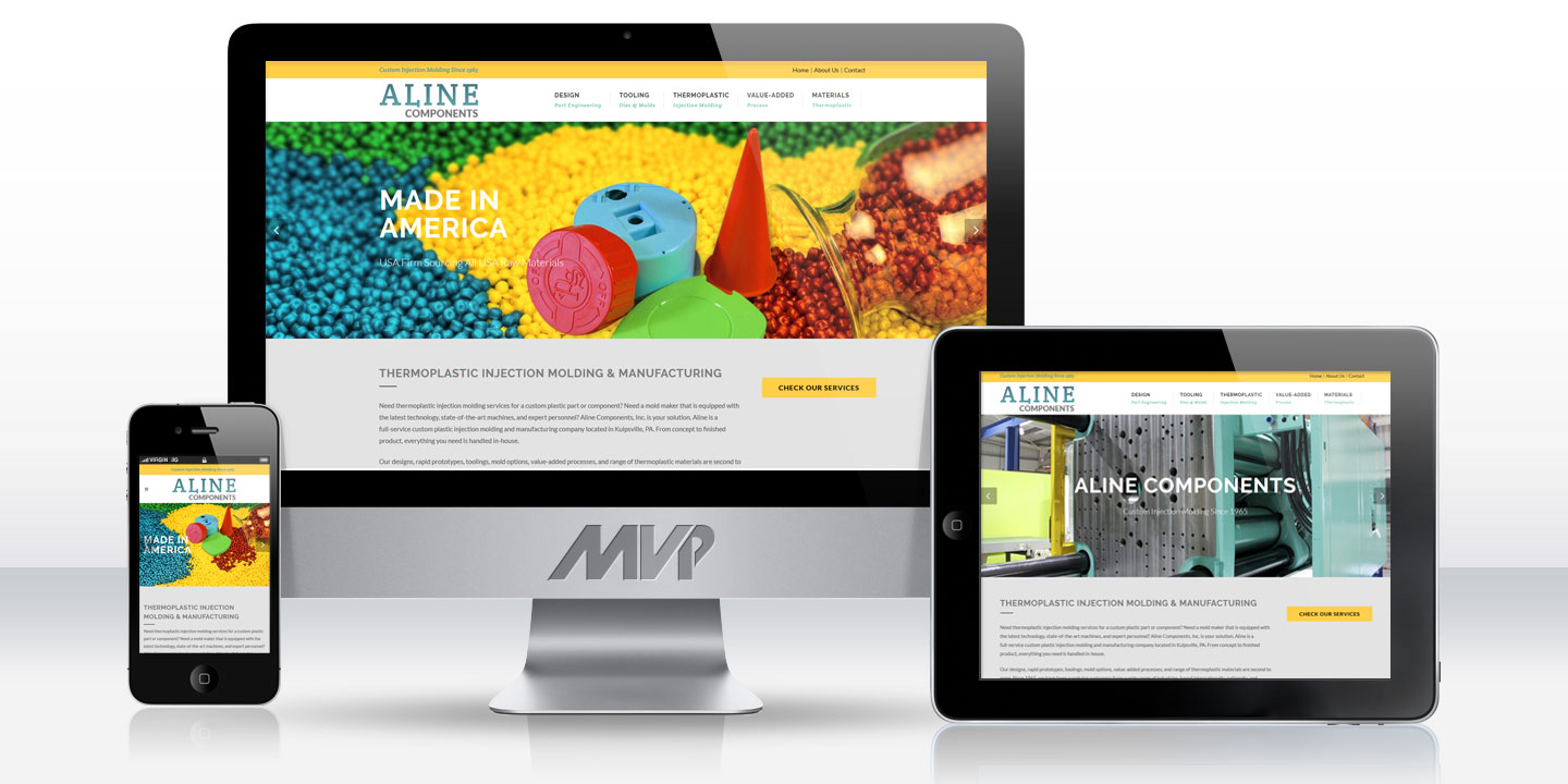 Aline Components Responsive Website