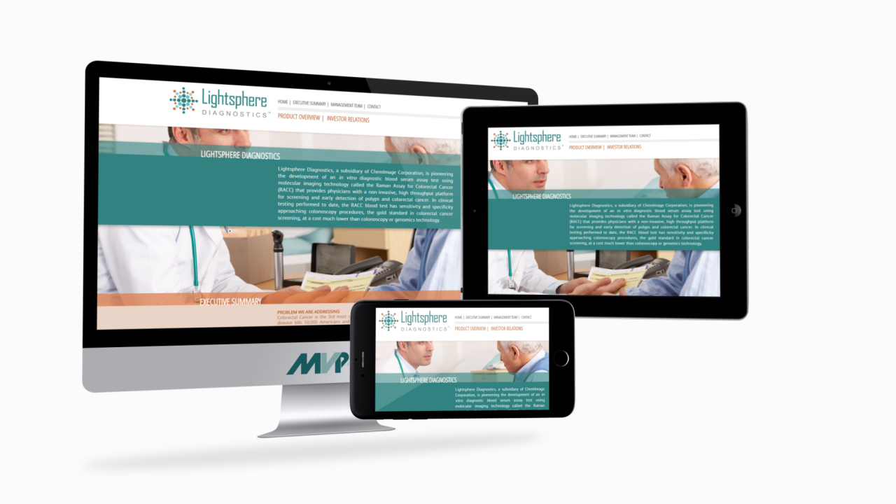Lightsphere Diagnostics Responsive Website