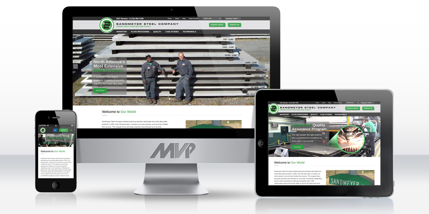 Sandmeyer Steel Responsive Corporate Website