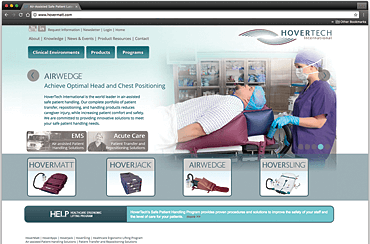 Hovertech Website with Custom CRM